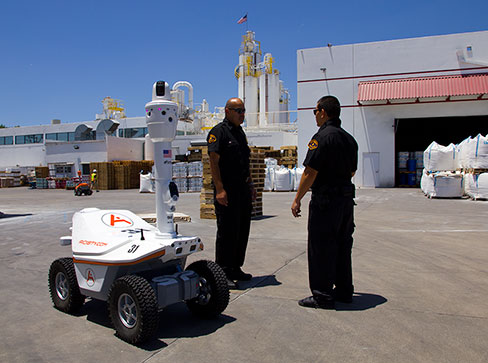 market for security robots worldwide