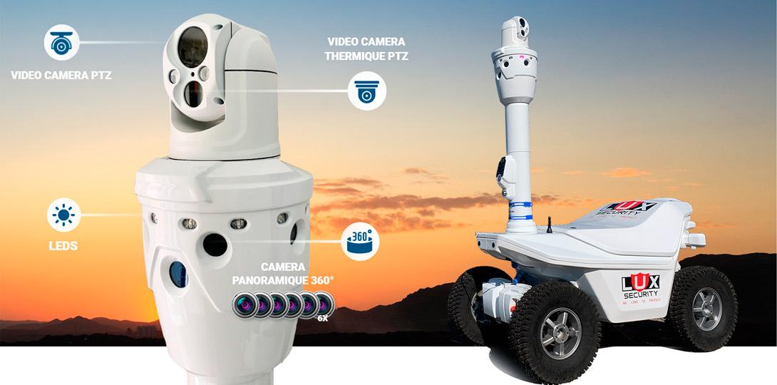 Thermal imaging dual-<br>spectrum security robot